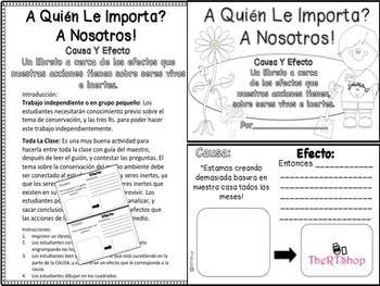 Spanish Reader's Theater Script: Reading-Science, Living & Nonliving, Activities