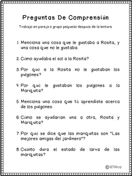 Spanish Reader's Theater Script: Life Cycles, Insects & Plants, Photosynthesis