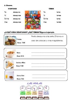SPANISH READING LECTURA ESPAÑOL: ¡A DESAYUNAR! BREAKFAST