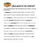 Spanish Reading Activity: ¿Qué pasó en las Noticias?