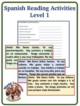 Spanish Reading Activity-Stations (Level 1)