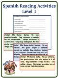 Spanish Reading Activity (Level 1)