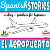 Airport travel Spanish story with audio (distance learning)