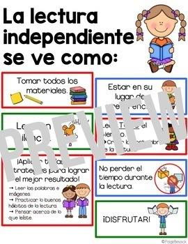 Spanish Reading Anchor Chart La Tabla De Las Expectativas Para La Lectura