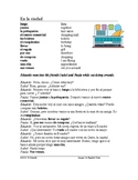 La ciudad Lectura - Spanish City Reading + Worksheet + Han