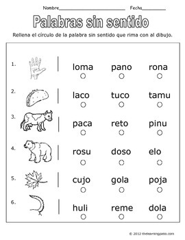 Spanish Reading Assessment Practice K-2