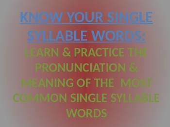 Spanish Reading Basics step 1: single syllables