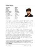 Enrique Iglesias Biografía - Spanish Biography + Worksheet