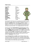 Fidel Castro Biografía - Spanish Biography + Worksheet