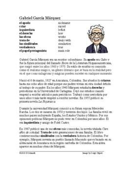 Gabriel García Márquez Biografía ~ Biography of Garcia Marquez