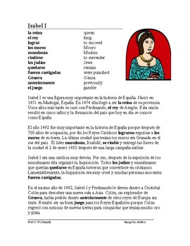 La Reina Isabel I Lectura ~ Queen Isabella I of Spain Biography