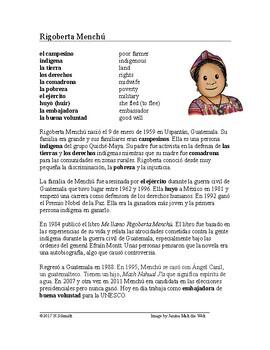 Rigoberta Menchú Biografía: Spanish Biography on a Guatemalan Activist)