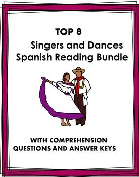 Spanish Reading Bundle: 5 Hispanic Singers + 5 Hispanic Types of Music @45% off!