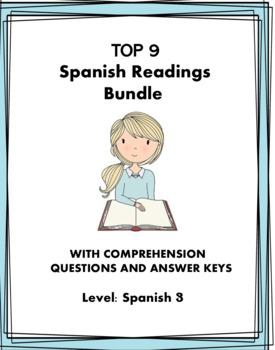 Spanish Reading Bundle: 8 Verb Tenses! Lecturas: Spanish 2/3