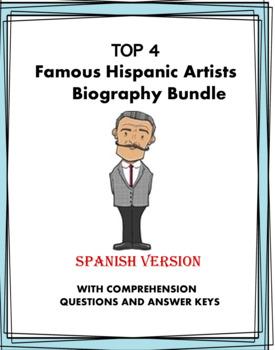 Artistas Latinos Lecturas - Artists Reading Bundle (Kahlo, Rivera) - 4 Bios!