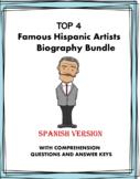 Artistas Hispanos Biografías: Top 4 Artists Reading Bundle (Kahlo, Rivera,Dalí)