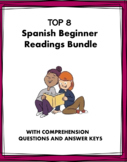 Spanish Reading Bundle for Beginners: 8 Lecturas! (Spanish 1/2)
