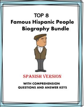 Spanish Biography Reading Bundle ~ 8 Biografías!  (Castro, Rivera, Marquéz)