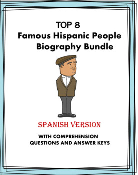 Spanish Biography Reading Bundle - Top 6 Biografías!  (Evita, Kahlo, Picasso)