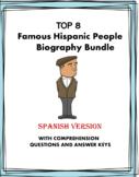 Spanish Biography Reading Bundle - Top 10 Biografías!  (Ev