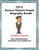 Spanish Biography Reading Bundle - Top 8 Biografías!  (Evi