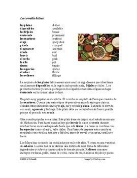 La comida y el restaurante Lecturas - Food and Restaurant Bundle - 4 Readings!