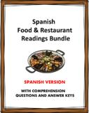 La comida y el Restaurante: Food & Restaurant Bundle: 5 Re