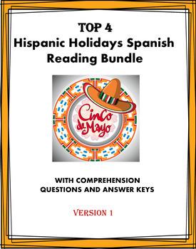 Holidays Reading Bundle - Días Festivos Lecturas - 5 Readings!