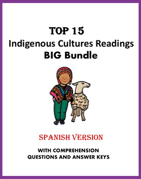 Spanish Reading Bundle: Indigenous Cultures: 12 Lecturas! (45% off!)