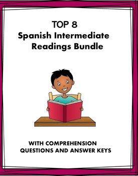 Spanish Intermediate Reading Bundle - Lecturas para intermedios - 8 Stories!