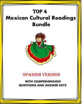 Spanish Reading Bundle on Mexico: Cultura - 4 Lecturas! (35% 0ff!)