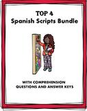 Spanish Scripts Reading Bundle: Lecturas de diálogos: 4 Easy Readings!