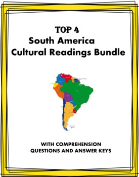 Spanish Reading Bundle - South America - Cultura en Español - 5 Lecturas!