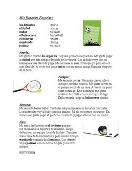 Spanish Reading Bundle Sports - Los deportes 4 Lecturas!