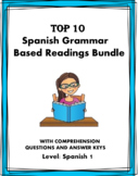 Spanish Reading Bundle: Top 12 Grammar Based Readings - Lecturas en Español