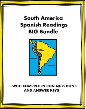 Spanish Reading Bundle on South America: 5 Biografías y 5 Lecturas Culturales