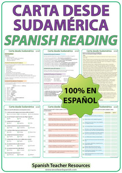 Spanish Reading - Carta desde Sudamérica