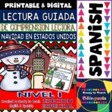 Spanish Reading - Christmas in USA - Guided Reading Passag