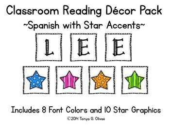 Spanish Reading Classroom Decor with Star Accent Pics