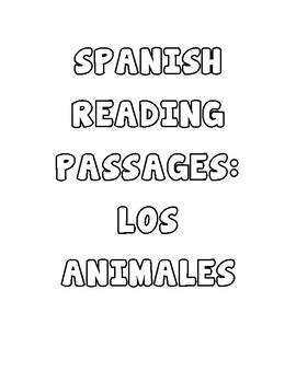 Spanish Reading Comprehension