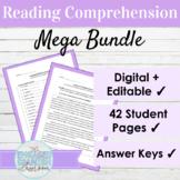 Spanish Reading Comprehension Activities Mega Bundle | Editable and Digital