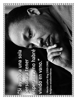 Dr. Martin Luther King Jr. Spanish and Bilingual Lesson Materials