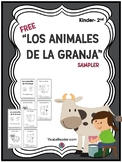 FREEBIE: Farm Animals in Spanish Writing & Coloring Card Booklet Pre-K-2nd
