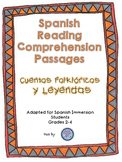 Spanish Reading Comprehension Packet {Cuentos Folkloricos y Leyendas}