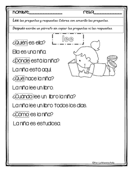 Spanish Reading Comprehension / Pasajes de comprension con diálogo