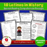 Spanish Reading Comprehension Passages: 10 Latinas in History