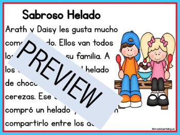 Spanish Reading Comprehension Passages Editable Questions Level D