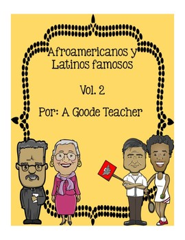 Spanish Reading Comprehension Passages: Famous African Americans & Latinos #2