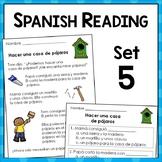 Spanish Reading Comprehension Passages and Questions: Set Five {En Español}