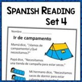 Spanish Reading Comprehension Passages with Text-Based Questions Set Four {ESL}